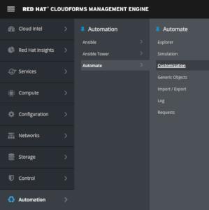 navigate to customization
