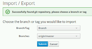 Select Branch or Tag